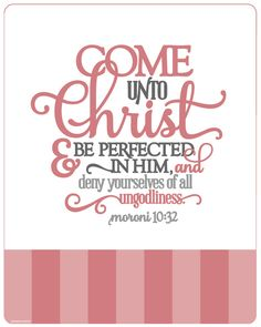 Notebook Cover - Come Unto Christ Coral. the ONLY way to be made perfect. we can never be perfect here in our earthly bodies. but, someday.........someday. thank You Lord for affording me the opportunity to be made perfect someday. come Holy Spirit.