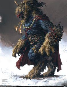 Stunning Medieval Fantasy Art by Yang Qi — GeekTyrant Monster Art, Fantasy Monster, Monster Design, Creature Concept Art, Creature Design, Fantasy Creatures, Mythical Creatures, Fantasy Character Design, Character Art