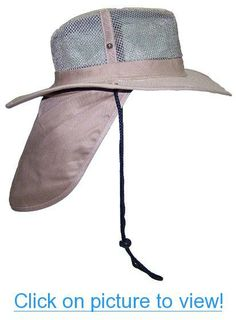 cb5852eb43f0f Tropic Hats Wide Brim Men Safari Outback Summer Hat w Neck Flap 2 Wide Brim  Mesh Summer Hat with Neck Flap for Anytime Out in the Sun. Nice Airy Mesh to