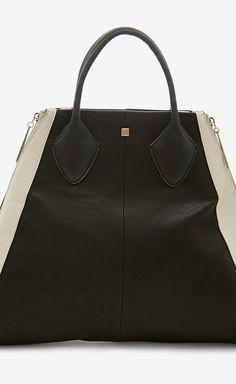 Pour la Victoire Black And White Handbag