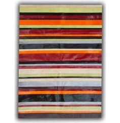 Patchwork Cowhide - Multi Colour Horizontal Stripes