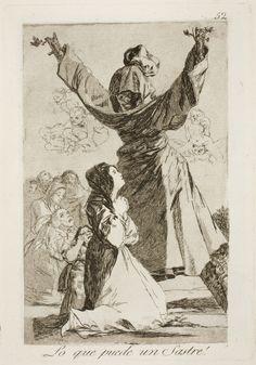 """Francisco de Goya: """"Lo que puede un Sastre!"""". Serie """"Los caprichos"""" [52]. Etching, aquatint, drypoint and burin on paper, 214 x 150 mm, 1797-99. Museo Nacional del Prado, Madrid, Spain"""