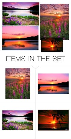 """""""Sunsets"""" by jordanbond55 ❤ liked on Polyvore featuring art"""