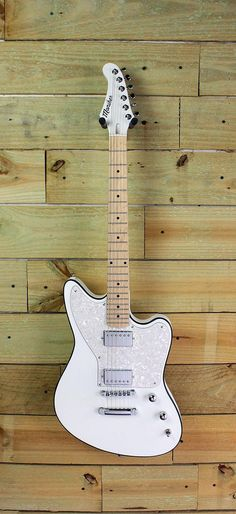 Custom Moniker Zuma with white pearloid pickguard and Moniker humbuckers. Design yours online at MonikerGuitars.com