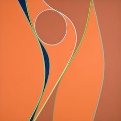 Coral and Blue Abstract by Lorser Feitelson
