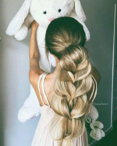 Party Hairstyle: Fabulous voluminous Barbie braid hair by ulyana.aster