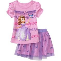 Sofia the First Toddler Girl Tee and Tutu Set