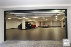 An 8 car garage. Seems more like a hotel underground parking.