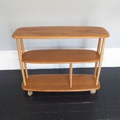 Vintage Ercol Trolley Bookcase in Elm by LinneyHughes on Etsy