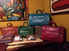 Moroccan leather Travel bags