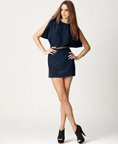 BCBG Generation Black Cutout Shoulder Dress. Great casual dress with flats!