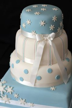 Google Image Result for http://www.julietstallwoodcakesandbiscuits.co.uk/home/wp-content/uploads/2010/07/snowflake.-dots-and-stripes-4-tier-wedding-cake.jpg