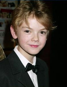 Thomas-Brodie Sangster at the Love Actually New York Premiere in 2003.
