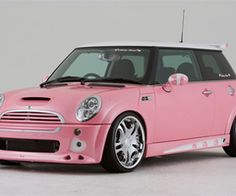 pink mini cooper? yes please!