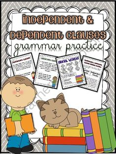 Grammar Practice - Independent & Dependent Clauses - Common Core Aligned from A Touch of Class Teaching on TeachersNotebook.com -  (10 pages)  - In this grammar packet, students will learn to identify independent and dependent clauses. They will be able to identify signal words that help them to identify dependent clauses.