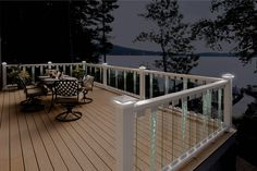 There will be no obstructed views from your deck with Deckorators Scenic Glass Balusters!