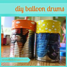 scrumdilly-do!: diy balloon {shaker} drums