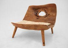 Wonky and wonderful wood chair / wabi sabi