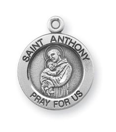 "Reginas Catholic Gifts - Sterling Sm Rd Saint Anthony- 18"" Ch, $30.50 (http://www.reginascatholicgifts.com/sterling-sm-rd-saint-anthony-18-ch/)"
