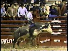 1987 PRCA world champion bull rider Lane Frost rides a bull during round 10 at the 1985 National Finals Rodeo. Lane was so full of promise. Can you imagine if things turned out different? July In Cheyenne, Lane Frost, National Finals Rodeo, 8 Seconds, Real Cowboys, Bull Riders, Cowboy And Cowgirl, Cowgirls, Mud