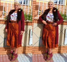 Bird blouse- Ebay / Lace skirt- Málaga flea market / vintage belt /  Cardigan Amaya Arzuaga / Bird brooch DIY
