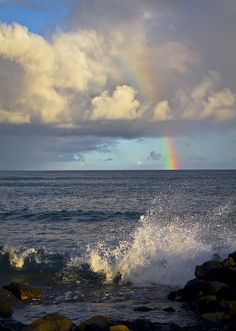 He sent His word and healed them, And delivered them from their destructions. [Psalm 107:20] (Kauai Rainbow)