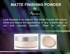MATTE FINISHING POWDER by afmetics Look flawless in an instant! This Matte Powder will absorb shine and reduce the appearance of any imperfection so you look naturally beautiful. Great for oily skin.  #Afmetics #beauty #Dubai #skincare #freckles #skincaretips #mattefinishinhpowde #powder #finishingpowder #mattepowder #naturallook