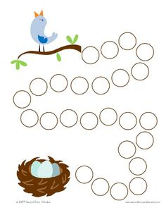 springtime themed incentive chart....stamp a circle for every memory verse recited for example....once they reach the birdie...treat...party...game time....something special.
