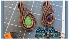 Wire Wrapped Pendant, Wire Wrapped Jewelry, Wire Jewelry, Beaded Jewelry, Jewlery, Jewelry Making Tutorials, Video Tutorials, Craft Tutorials, Diy Projects