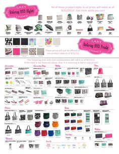 Thirty-One Summer 2013 Retirement list!!