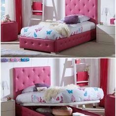 Lekker seng med praktisk oppbevaringsplass. Leveres i et stort utvalg av farger i kunstskinn, stoff og fløyel.☺️💕 Besøk www.mirame.no og se vårt store utvalg✨ #barnerom #sengegavl #seng #kunstskinn #fløyel #kidsroom #barnerominspo #kidsinterior #barneinteriør #farger #raquel #soverom #kidsstuff #morogbarn #nettbutikk #mirame #interior #interiør #innredning #pris #oppbevaring #sengmedoppbevaring Toddler Bed, Furniture, Home Decor, Child Bed, Decoration Home, Room Decor, Home Furnishings, Home Interior Design, Home Decoration
