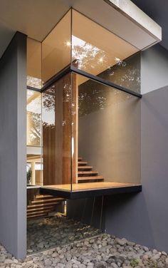 Stairs Architecture, Architecture Portfolio, Futuristic Architecture, Architecture Details, Residential Architecture, Montezuma, Costa Rica, Concrete Dining Table, Small Hallways
