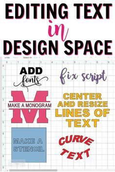How To Edit Text in Cricut Design Space. Click to Learn how to make a monogram, curve text, add fonts and more. #cricutprojects #cricuttutorial