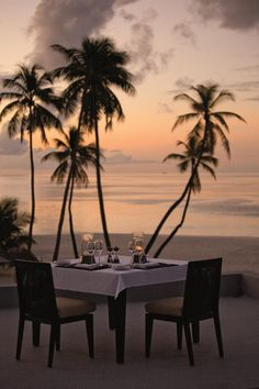 Rooftop terrace at Park Hyatt Maldives Hadahaa, designed by HBA/Hirsch Bedner Associates. Places Around The World, The Places Youll Go, Places To Go, Around The Worlds, Vacation Destinations, Dream Vacations, Vacation Spots, Romantic Destinations, Beach Dinner