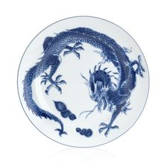 Blue Dragon Plate by Mottahdeh (Available at Michael C. Fina)