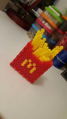 McDonalds fries made of hama beads.