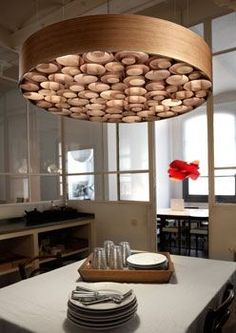 Wood veneer, Lamps and Under the lights on Pinterest