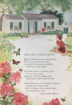"""A poem from my daughter's favorite book as a child: The """"Childcraft Storytelling & Other Poems"""" Volume 2, © 1949 Field Enterprises All Rights Reserved."""
