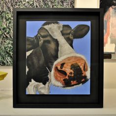 Framed using ArtGlass and an all black frame. Galleries, Moose Art, Presents, Contemporary, Canvas, Frame, Painting, Animals, Inspiration
