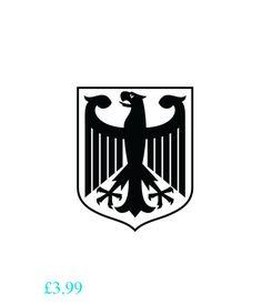 Wallpaper & Accessories German Eagle Sticker Decal, Car Bumper Sticker, Laptop Vinyl Decal. 18 Colours. #ebay #Home & Garden Tattoo Bein, Arm Tattoo, Laptop Stickers, Bumper Stickers, German Symbols, Medieval Banner, Card Tattoo Designs, Vw Vintage, Family Tattoos