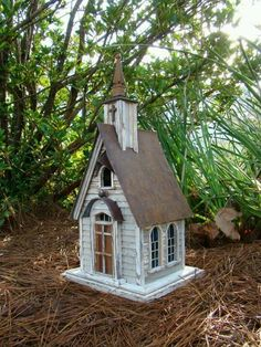Recycling is For the Birds Little country church birdhouse #3 out of 5