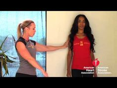No gym, no worries! Michelle Williams and her trainer demonstrate a few exercises without gym equipment. Your legs will shake after you try this wall squat! #AmericanStroke #PTES