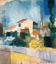 August Macke - Das helle Haus