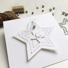 Christmas Star, Christmas Cards, Paper Art, Stampin Up, Gift Wrapping, Place Card Holders, Creative, Big Shot, Scrapbooking