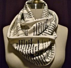 Book scarf.   Have any page from your favorite book or poem printed on a scarf here @mal113 @kaystone