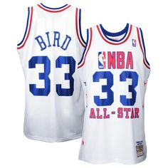 Mens Larry Bird Mitchell & Ness White 1990 All Star Game Authentic Basketball Jersey - NBA Store