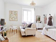 Les petites surfaces du jour : un studio très féminin