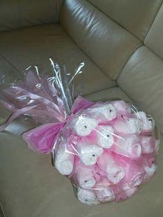 Torta di pannolini bouquet diapers cake