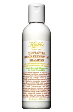 The Best Silicone-Free and Sulfate-Free Hair Products | Beauty High Kielhl's Sunflower Color Preserving Shampoo