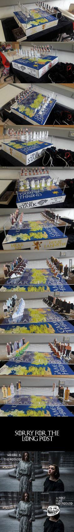 One of my final projects for the semester, A Game of Thrones exchangable chess